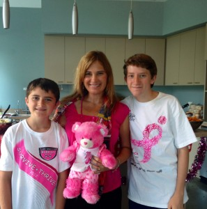 CMO Ruth Brajevich and her sons Derek and Devan
