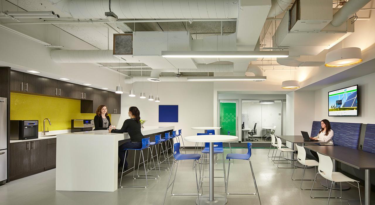 Schneider Electric break room