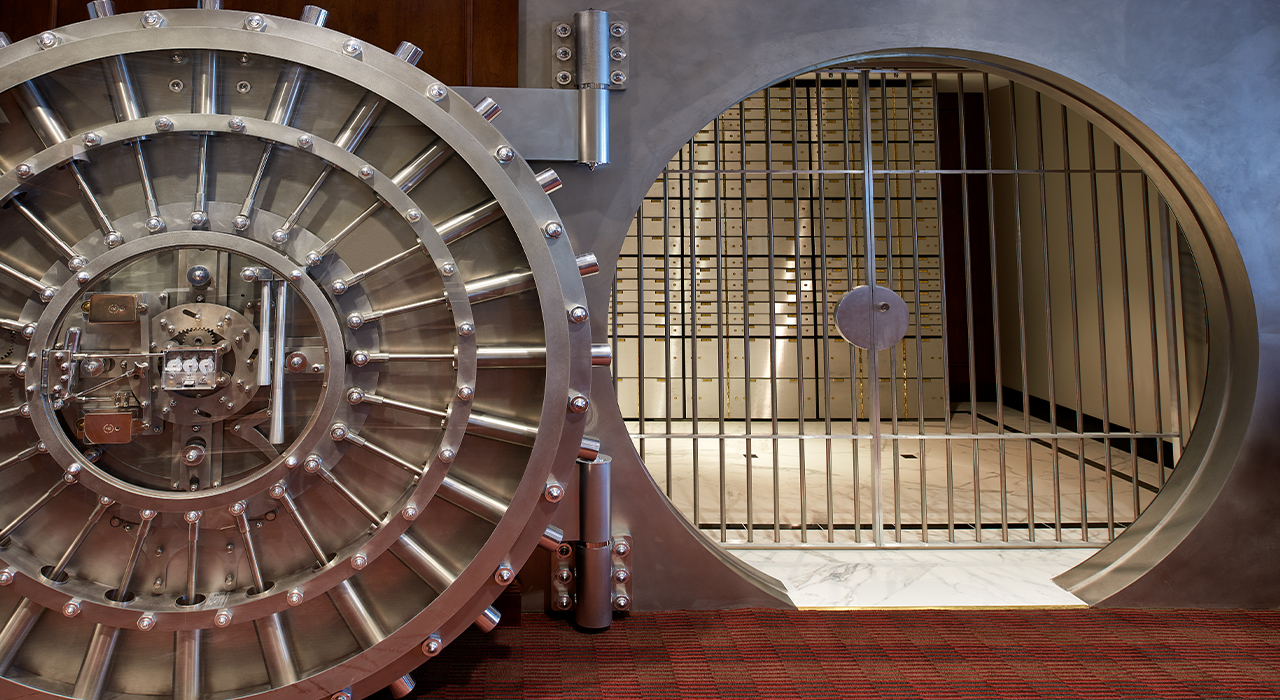 AMG National Trust Bank corporate headquarters vault
