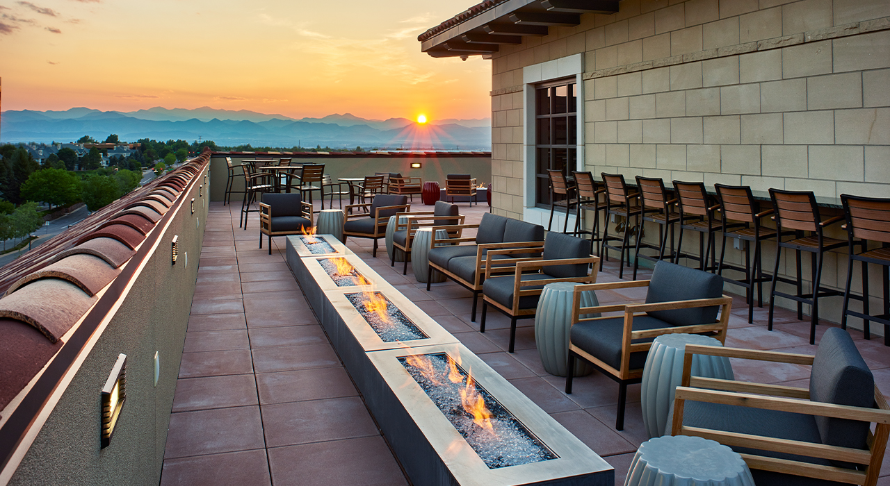 AMG National Trust Bank corporate headquarters rooftop lounge
