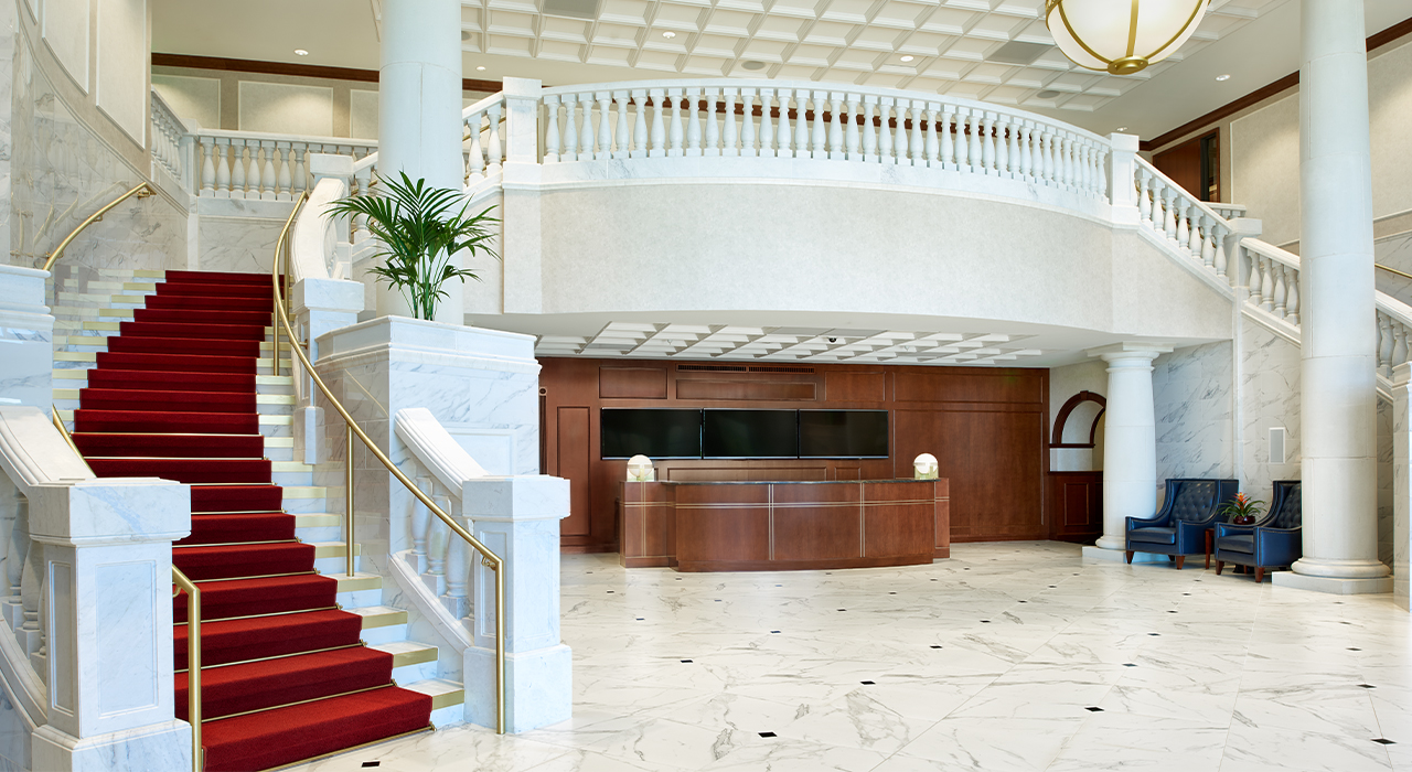 AMG National Trust Bank corporate headquarters lobby