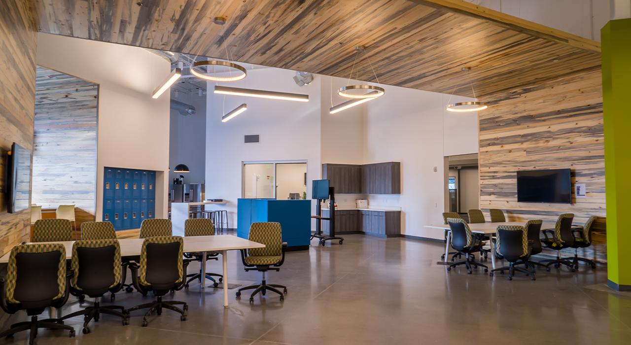 Accurence corporate headquarters break room