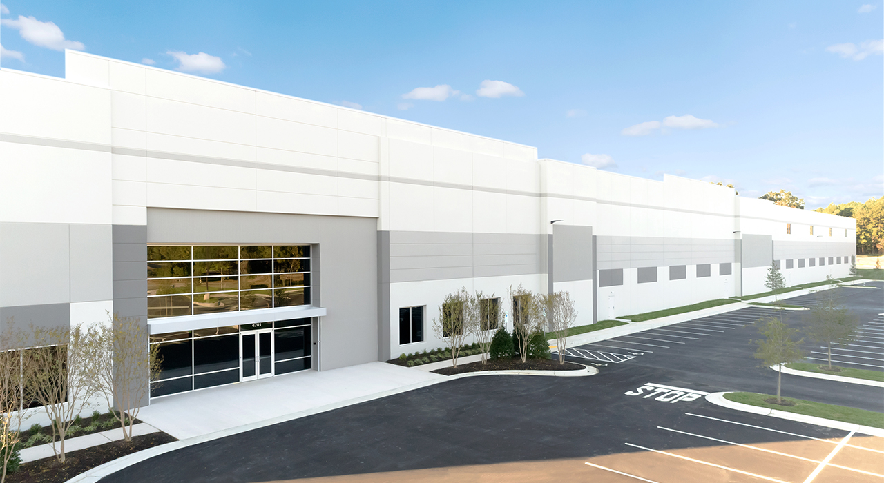 Commerce Drive industrial building entrance