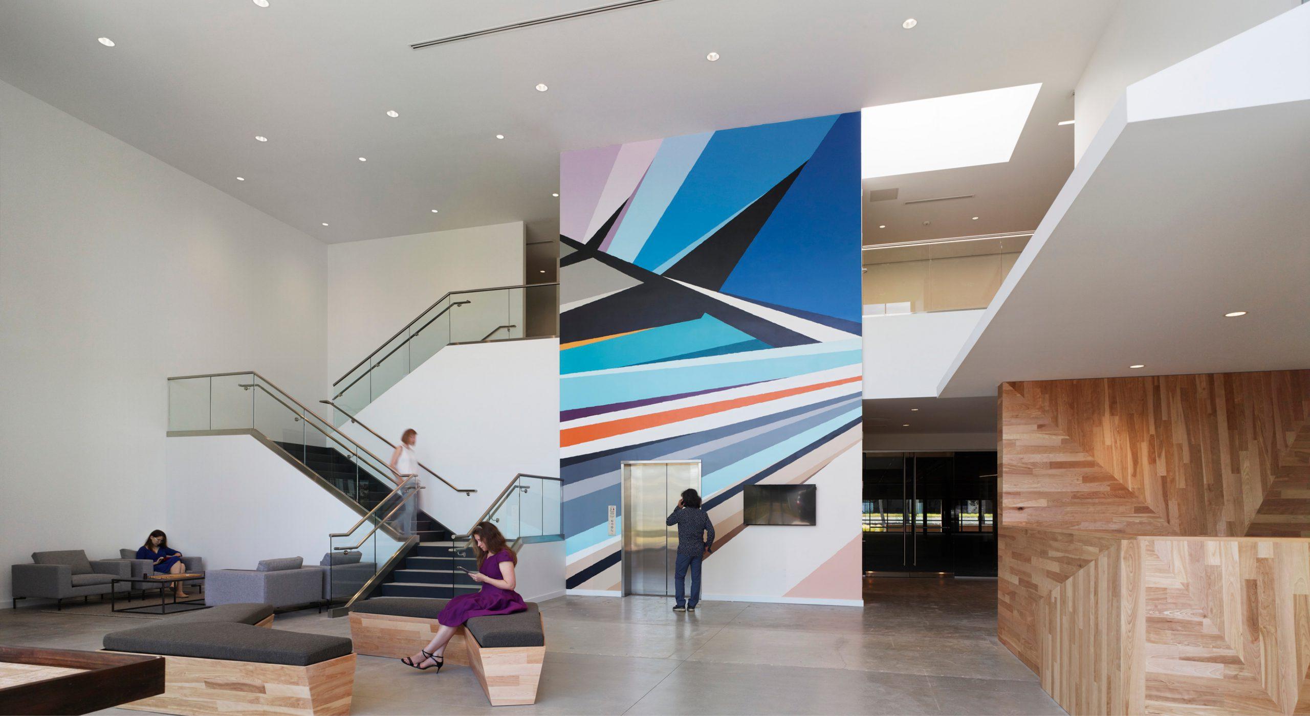 The Landing building lobby