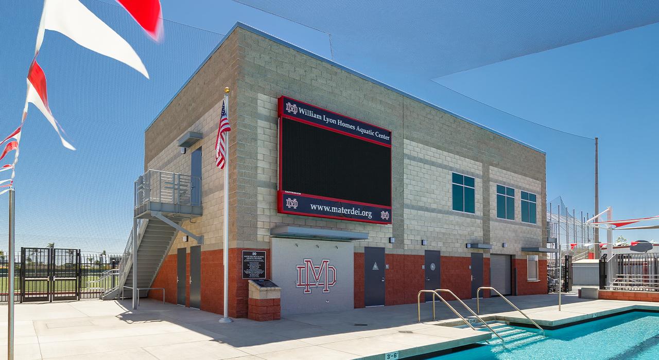 Mater Dei High School aquatic facility building