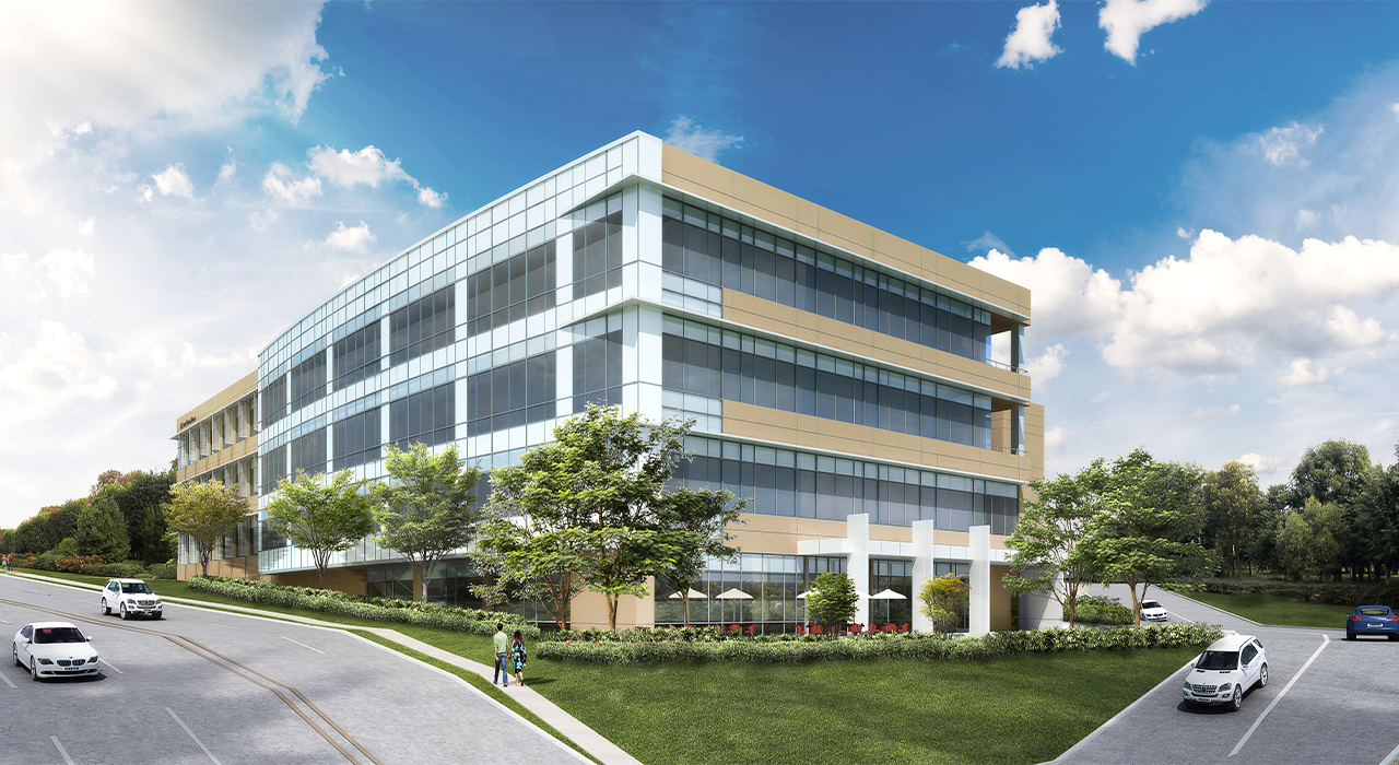 Office and manufacturing building rendering