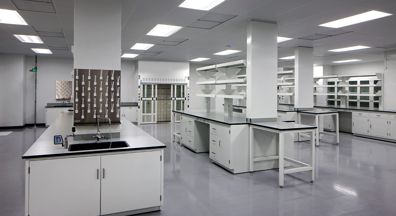 MicroVention's laboratory space