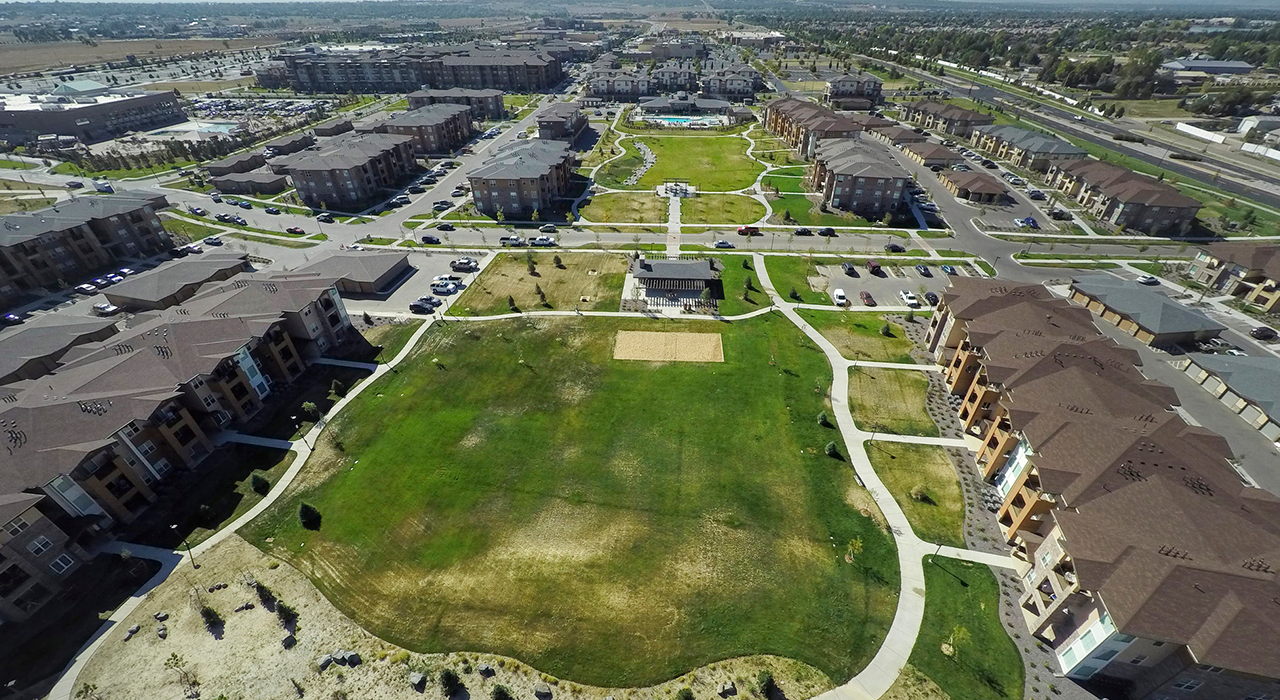 Orchard Town Center aerial view