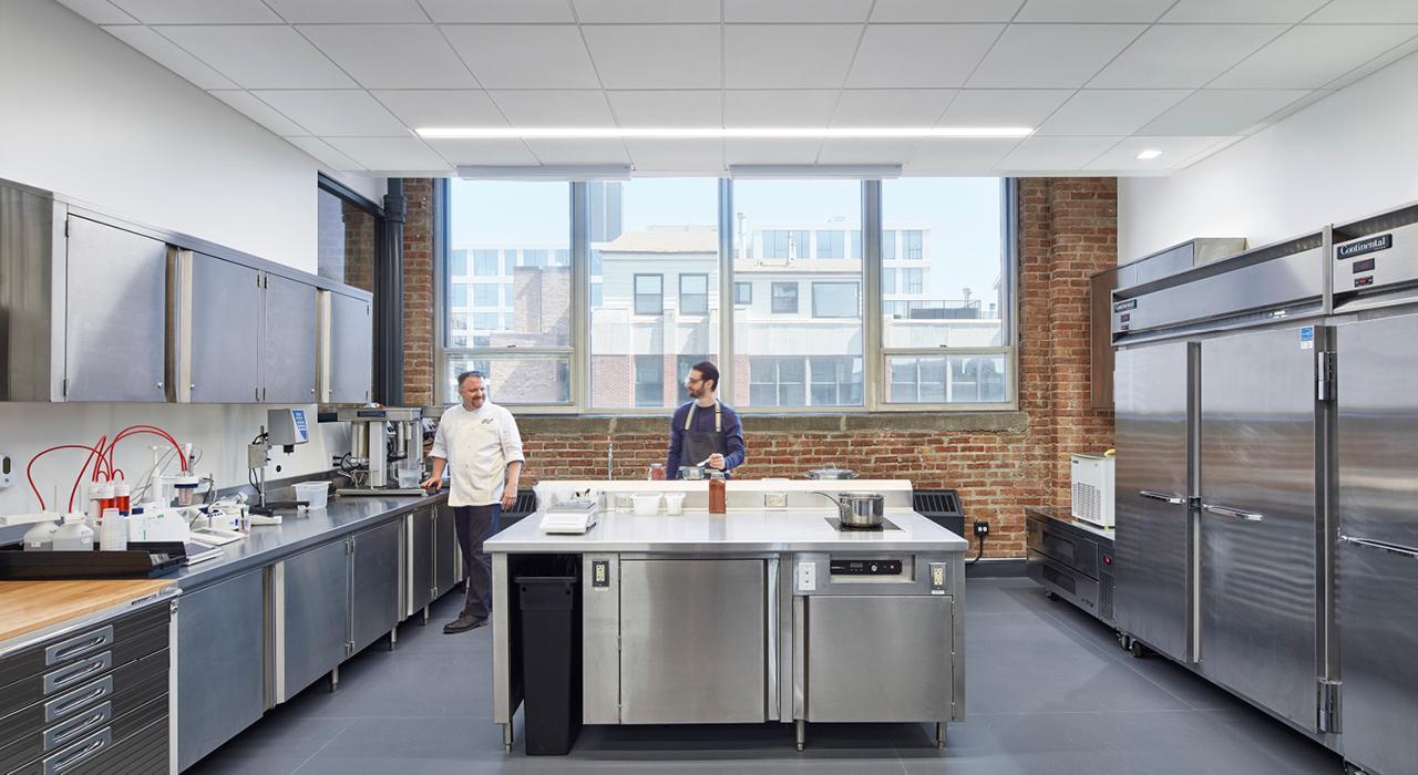 Golden State Foods Innovation Center kitchen