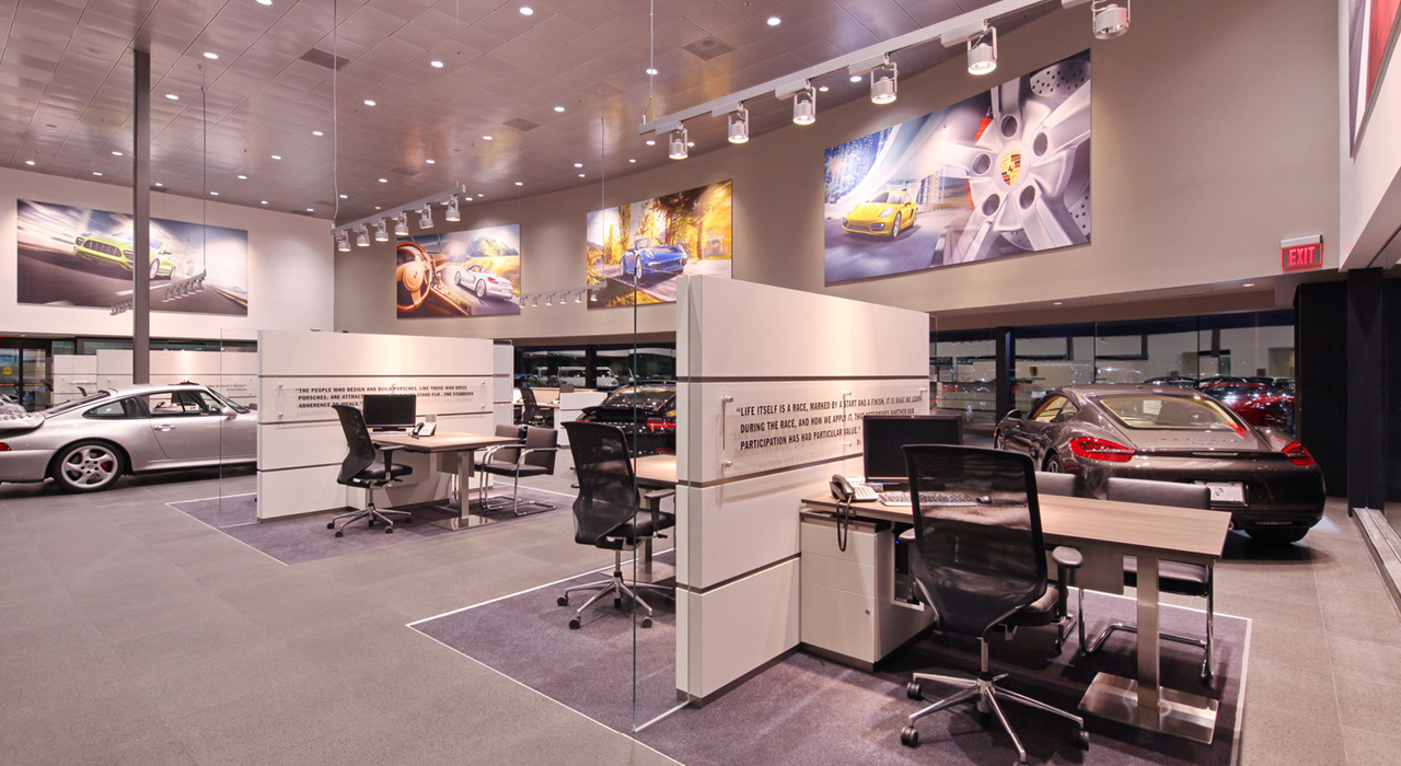 Penske Porsche open office space