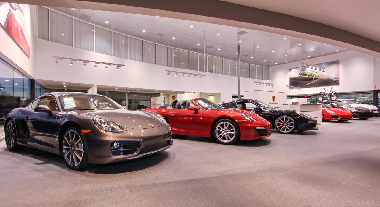 Penske Porsche showroom