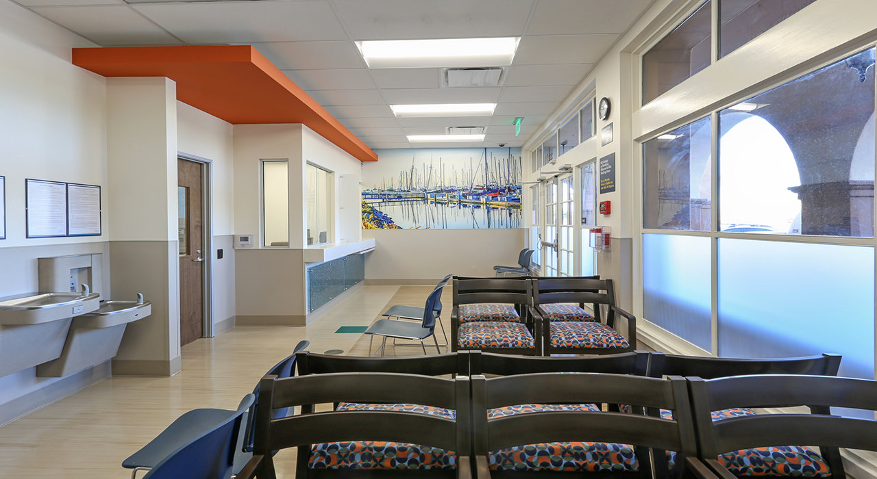 Rady's Southbay Urgent Care waiting area
