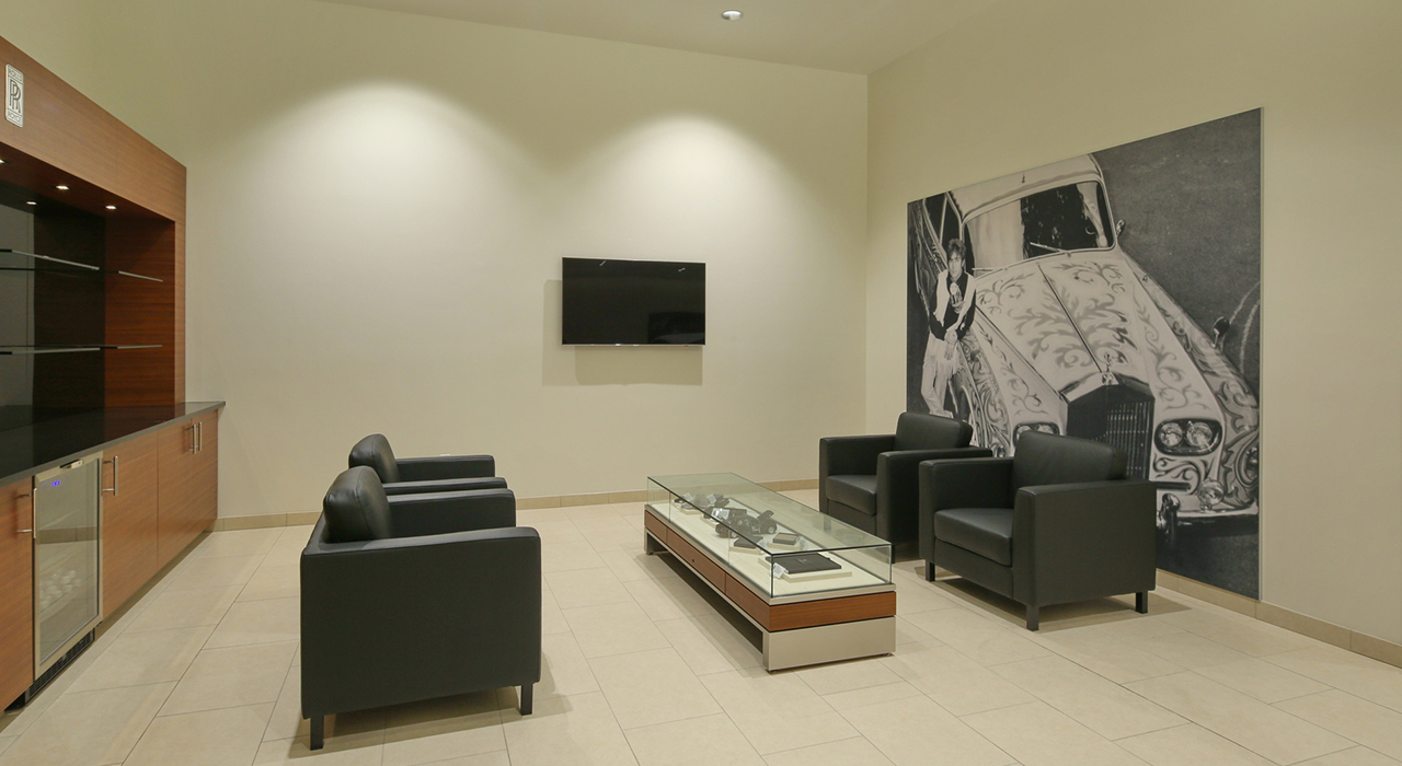 Rolls Royce lounge area