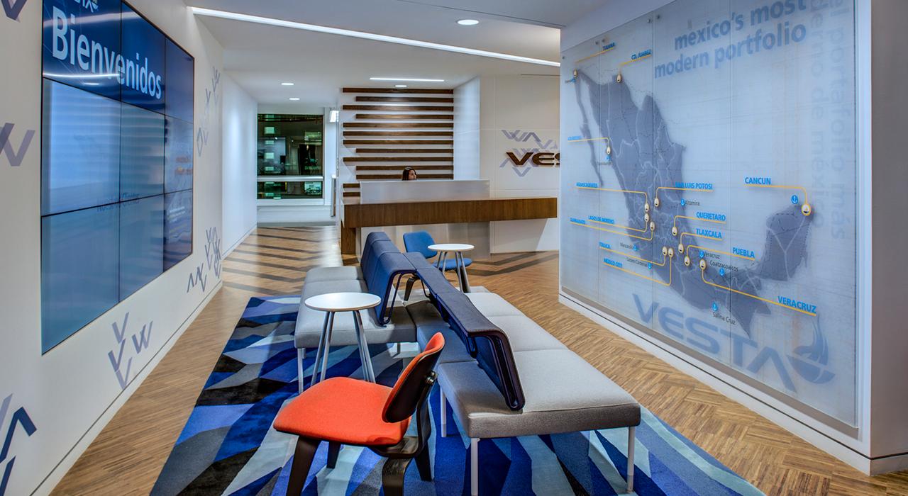 Vesta corporate headquarters lobby