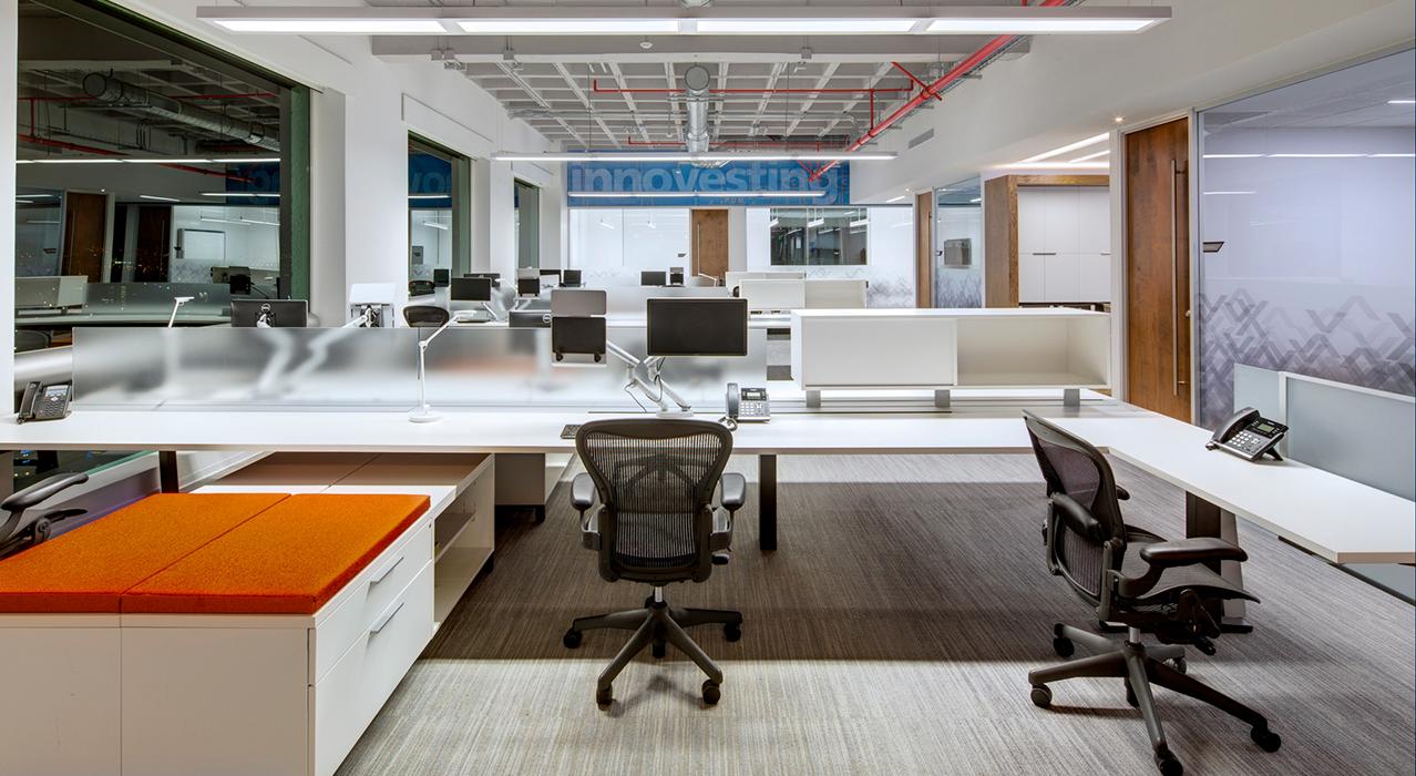 Vesta corporate headquarters open office space