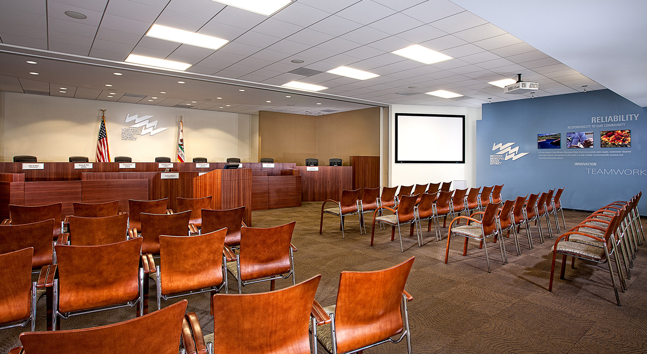 Western Municipal Water District community room