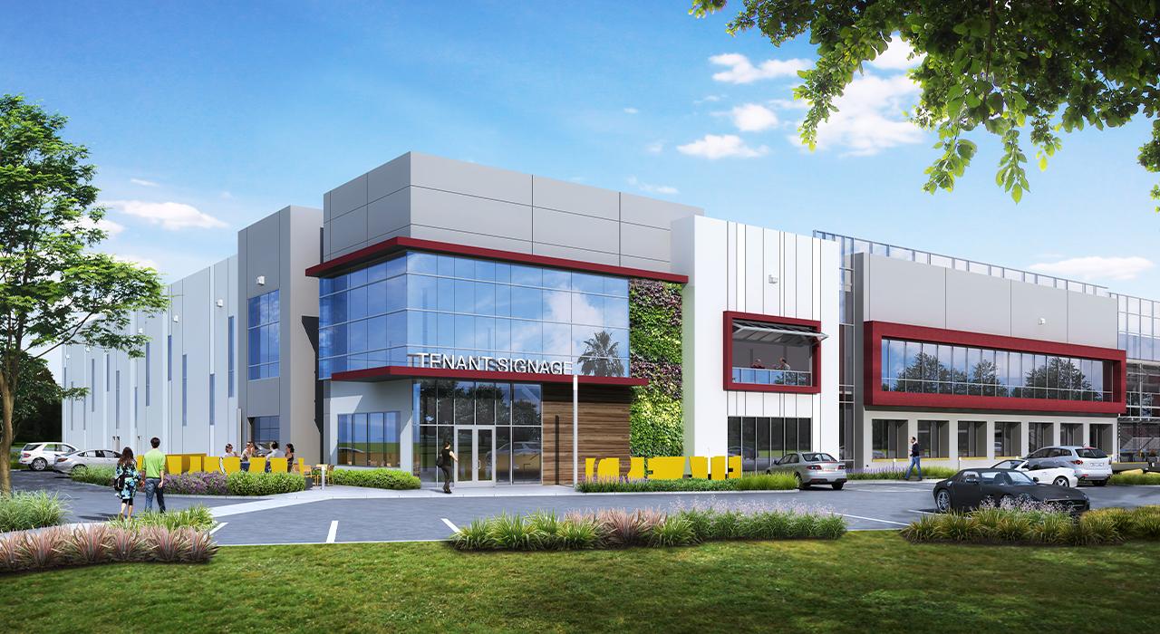 Creative industrial building rendering