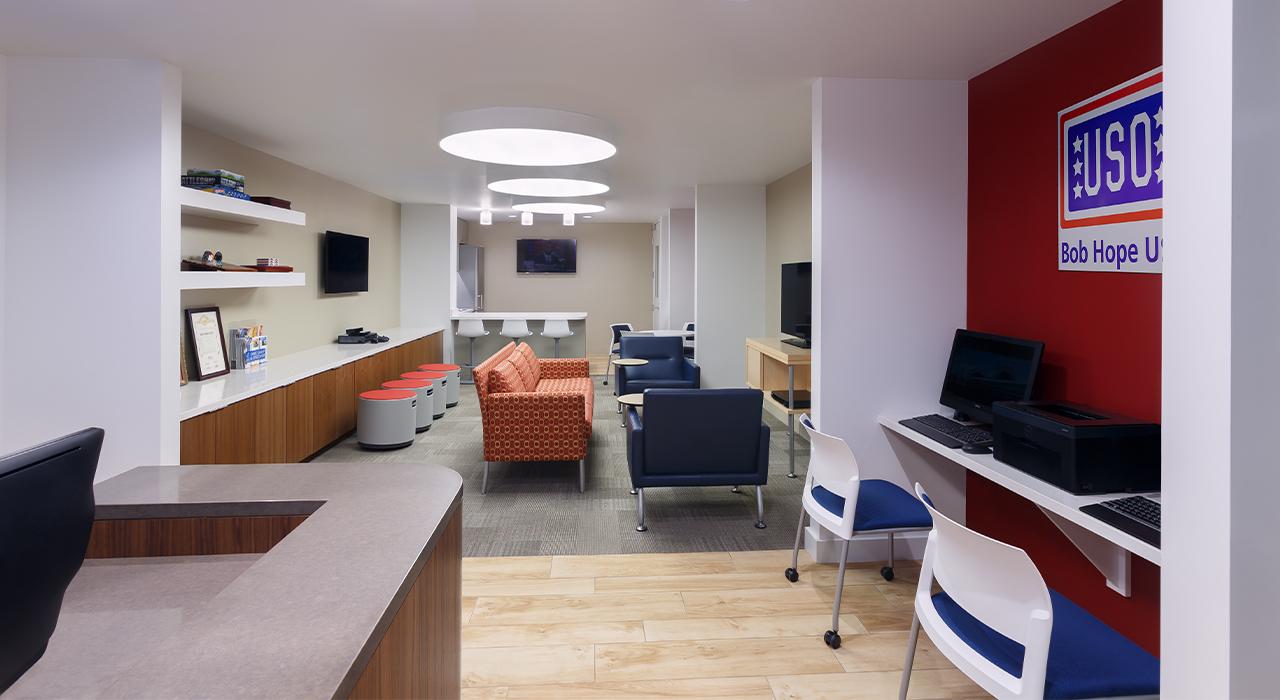 Bob Hope USO center common space