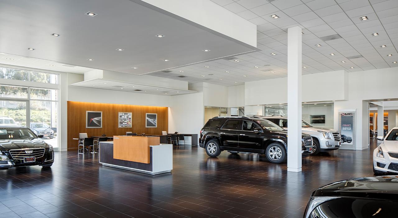 Allen Cadillac and GMC showroom