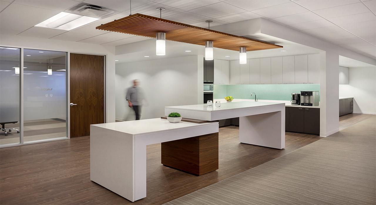 Emerson office and laboratory break area