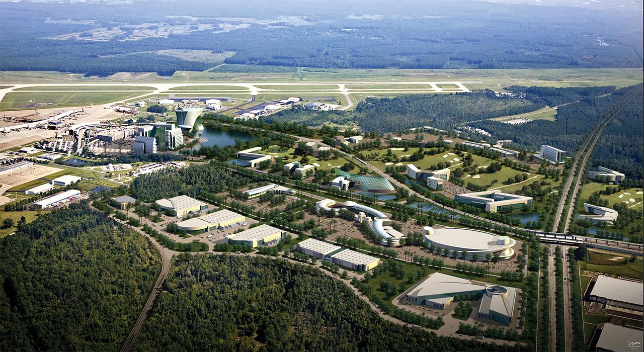 Jacksonville International Airport aerial view