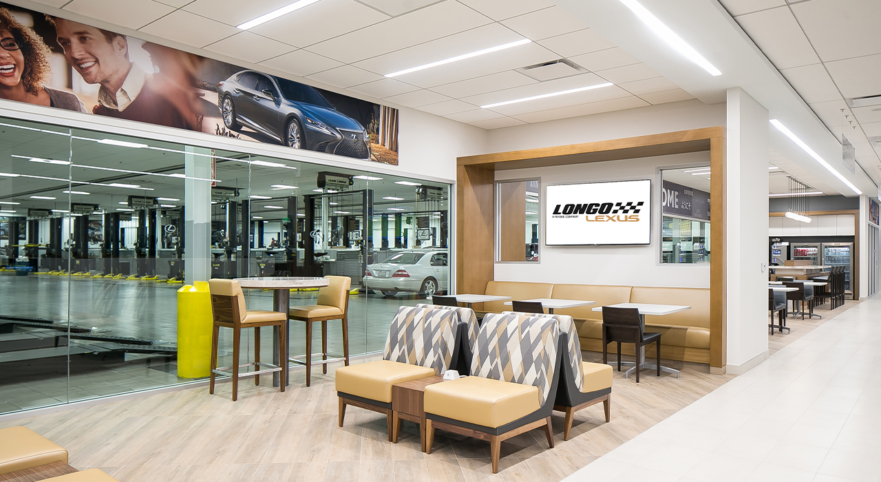Lexus dealership service lounge