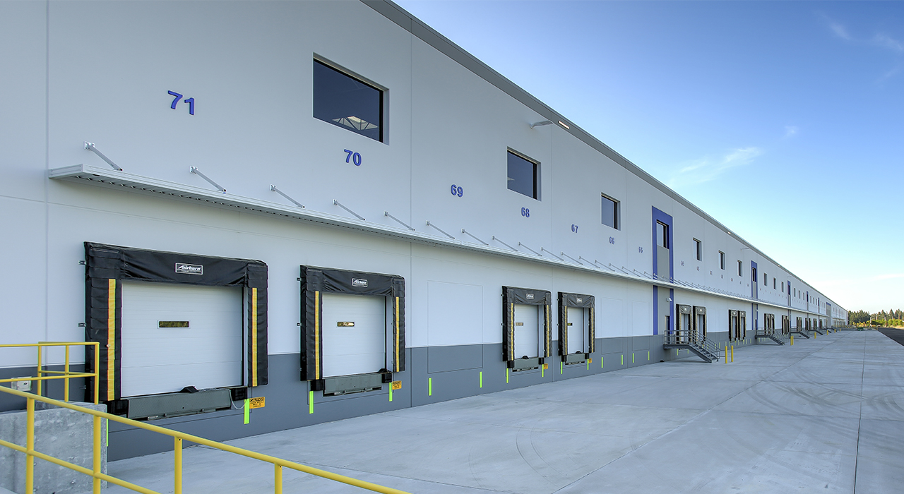 Medline warehouse facility truck bays