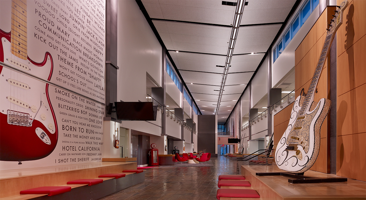 Fender corporate headquarters hall