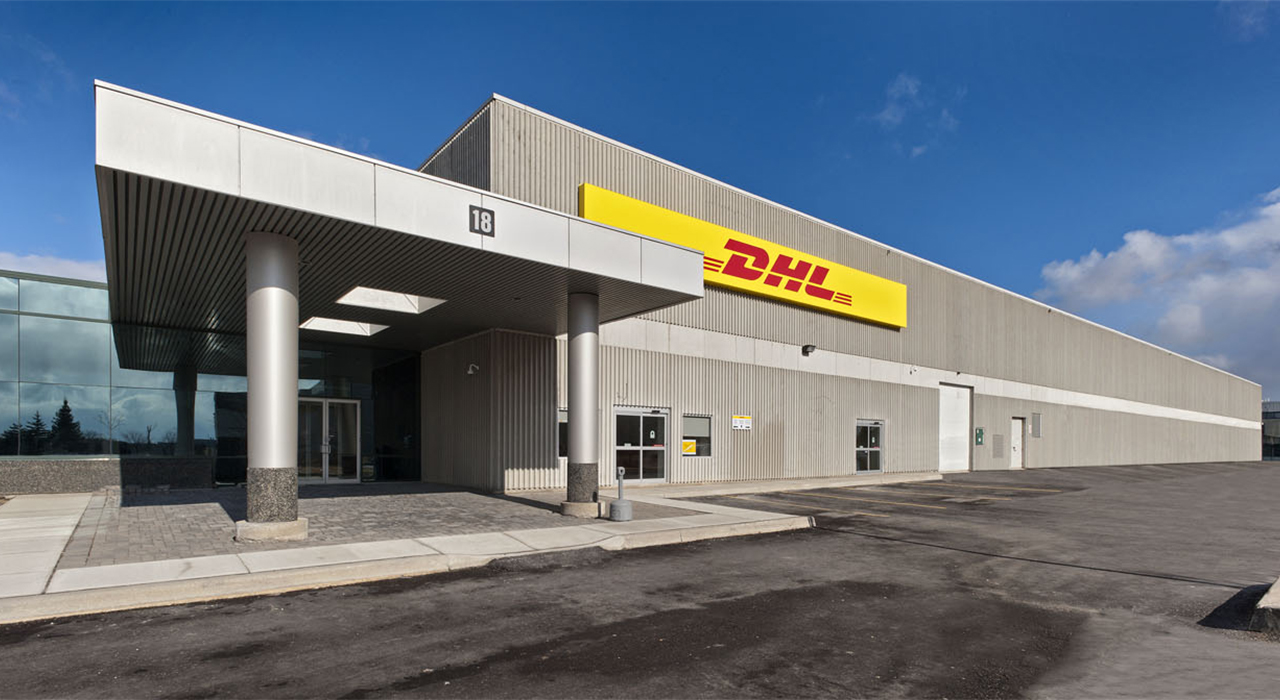DHL office and warehouse