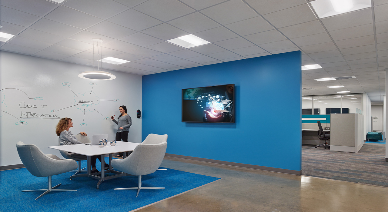 Cubic Corporation open conference room