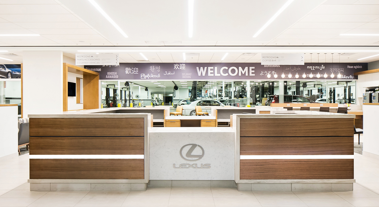 Lexus dealership service reception