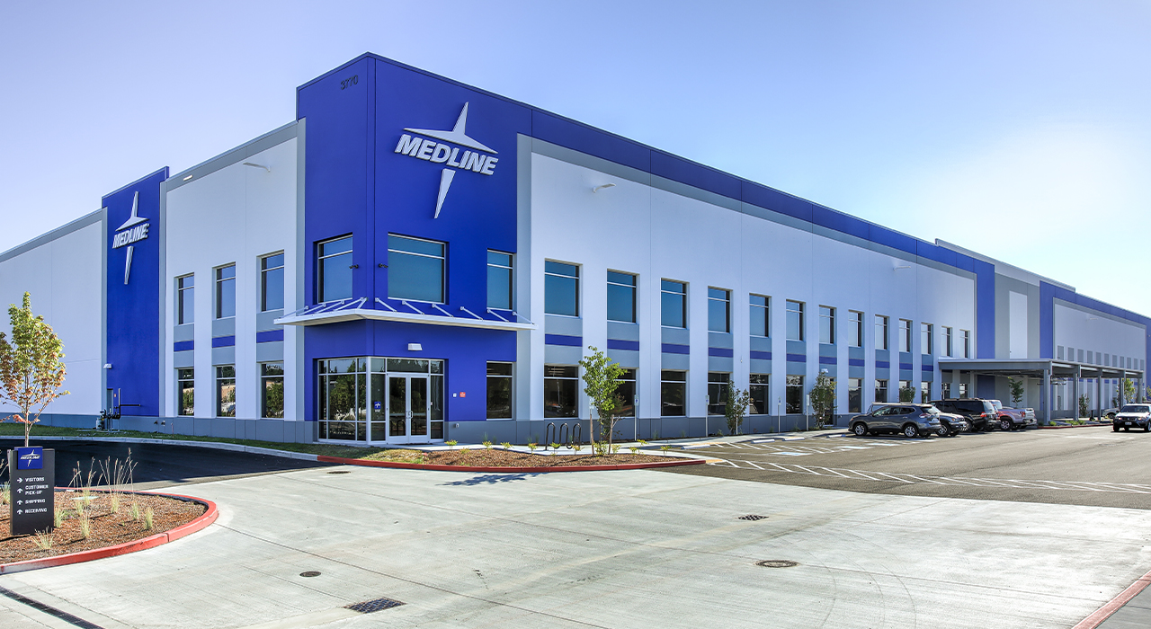 Medline warehouse and office facility