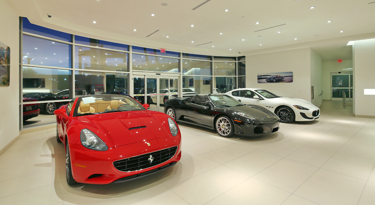Ferrari-Maserati showroom