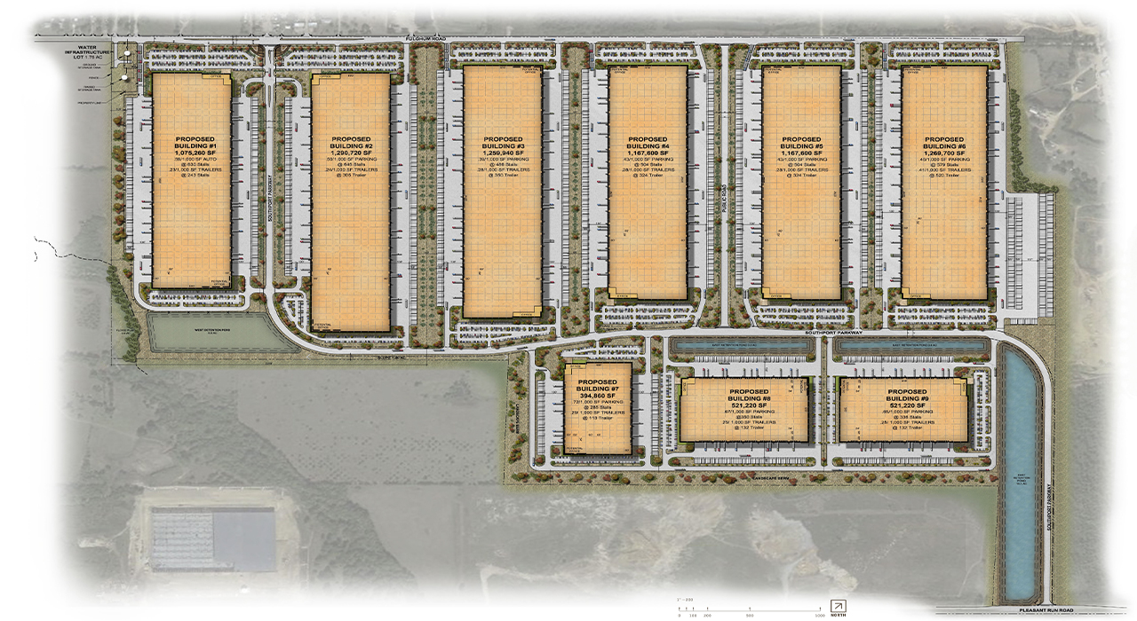 Southport Logistics Center master plan