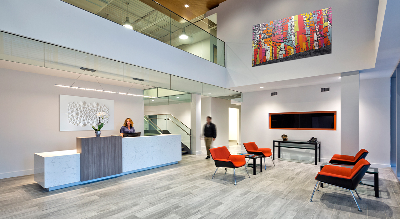 Sotawall office building lobby