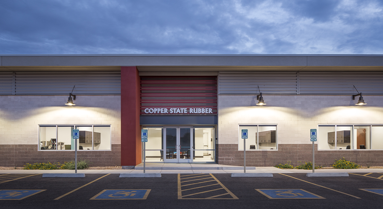 Copper State Rubber manufacturing facility entrance