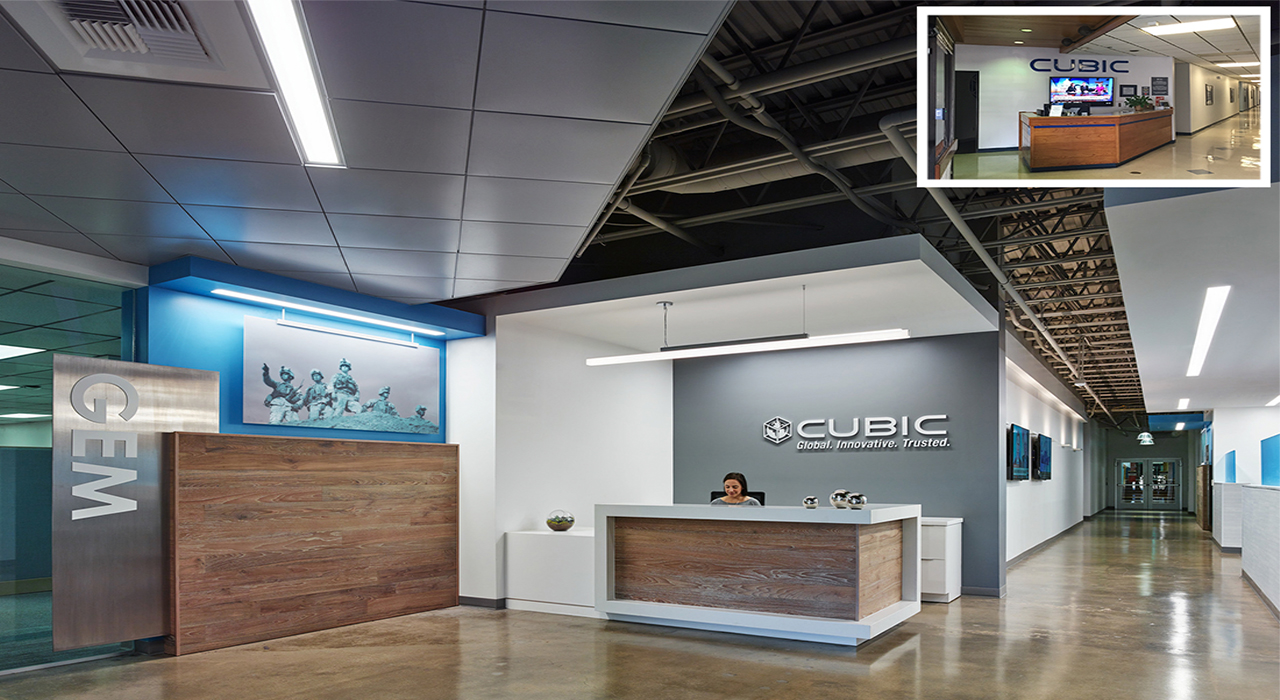 Cubic Corporation lobby transformation