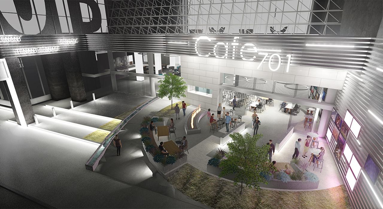 Outdoor café rendering