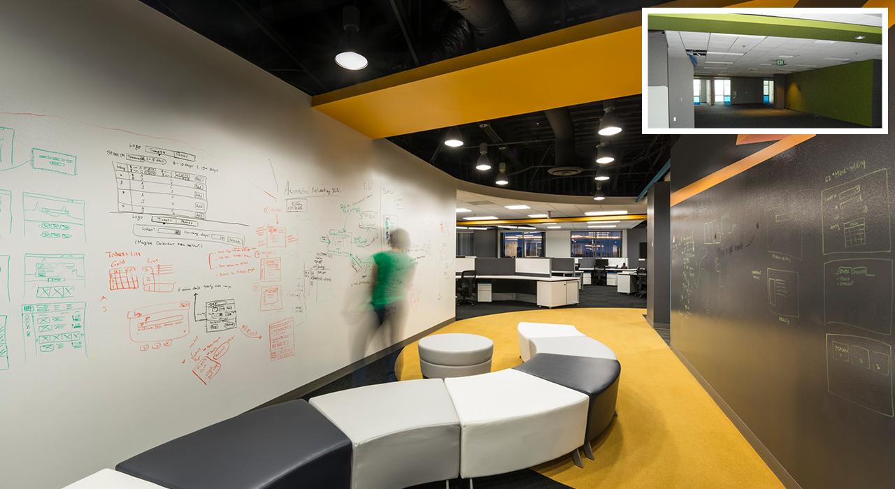 Active Network Corporate Headquarters hallway transformation