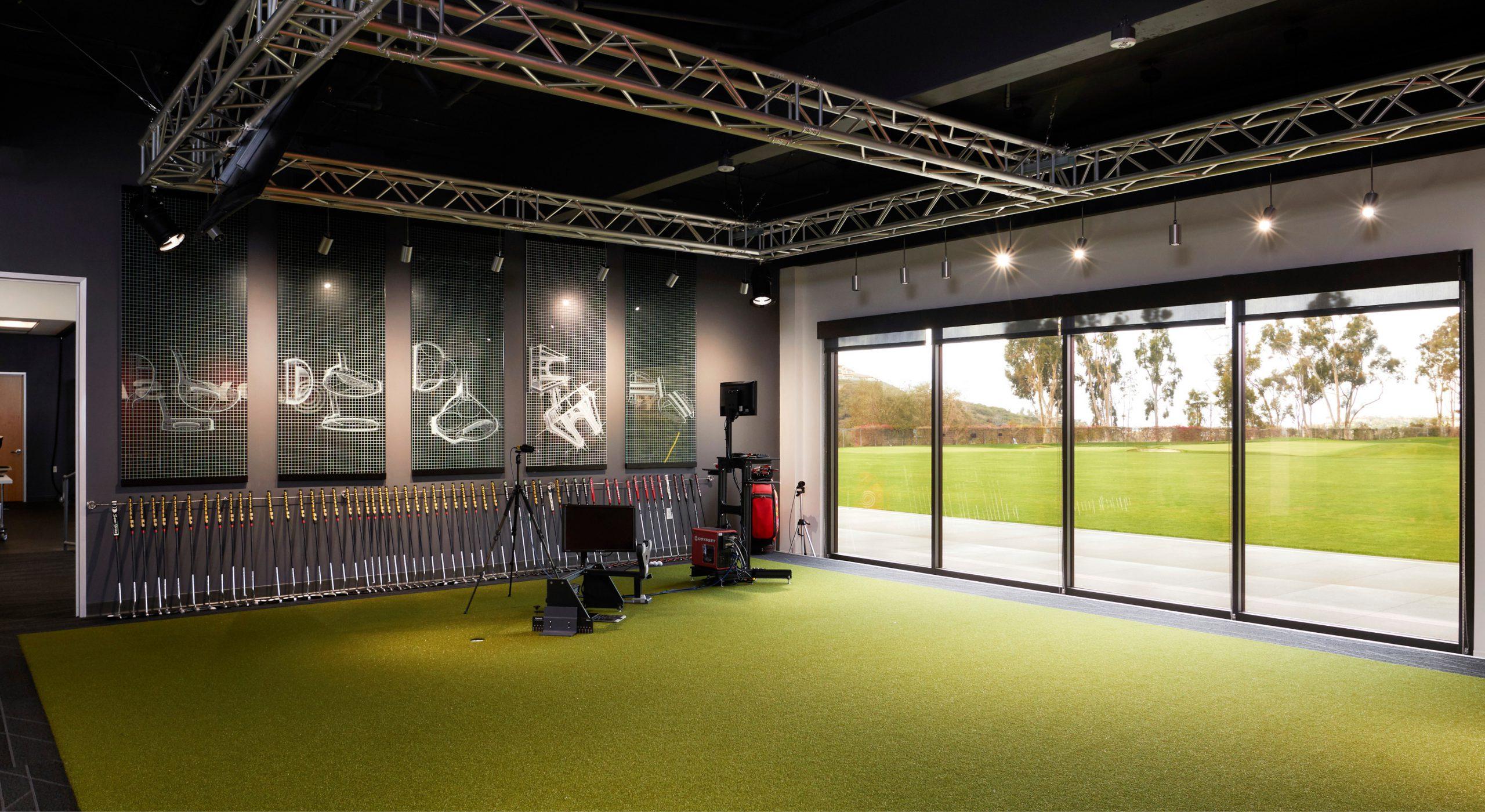 Callaway Golf Performance Center indoor golf area