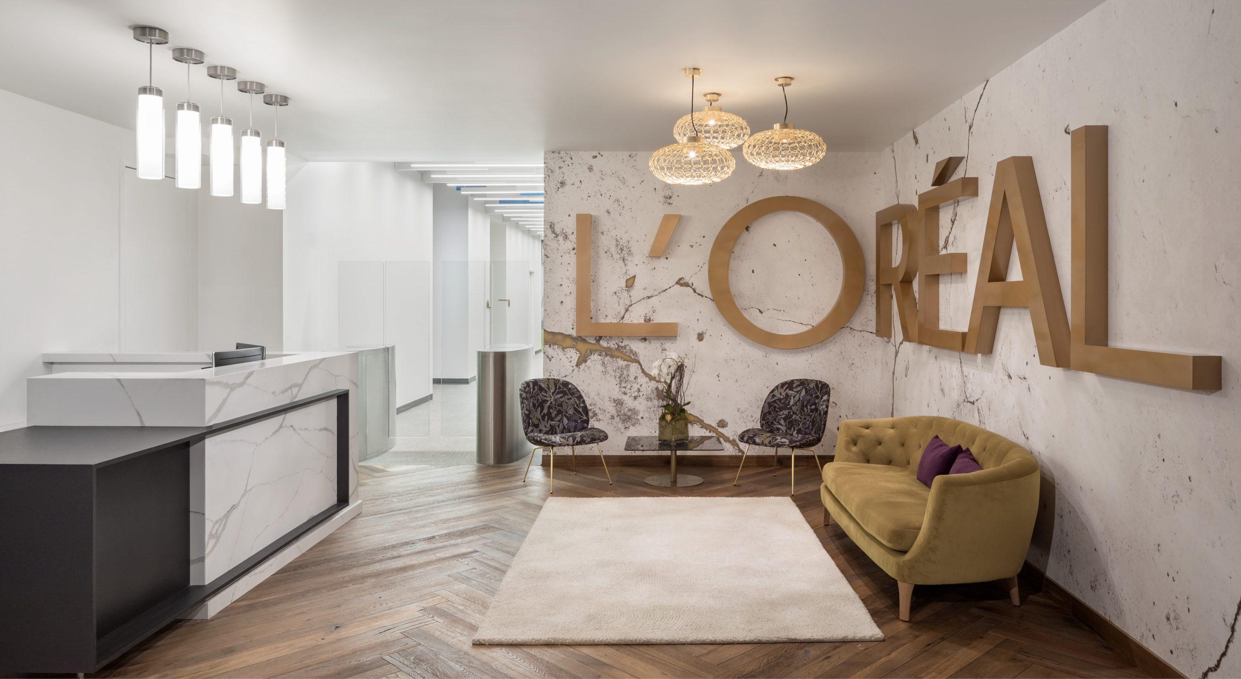L'Oreal The Hub lobby