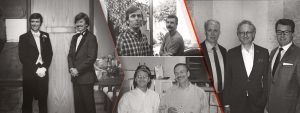 Historical collage of Ware Malcomb's Executive Leaders since its founding in 1972