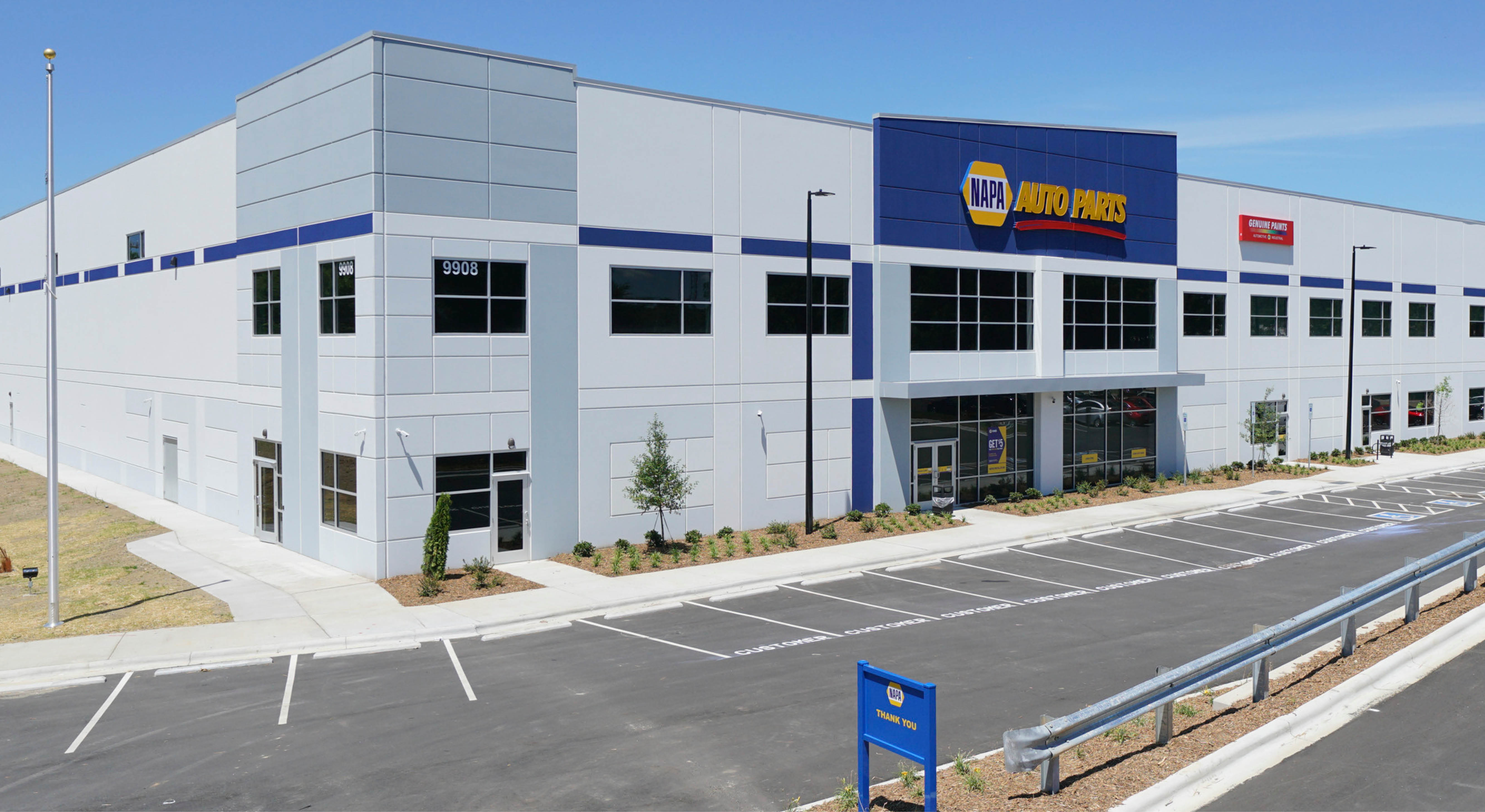 Napa Auto Parts industrial build to suit building