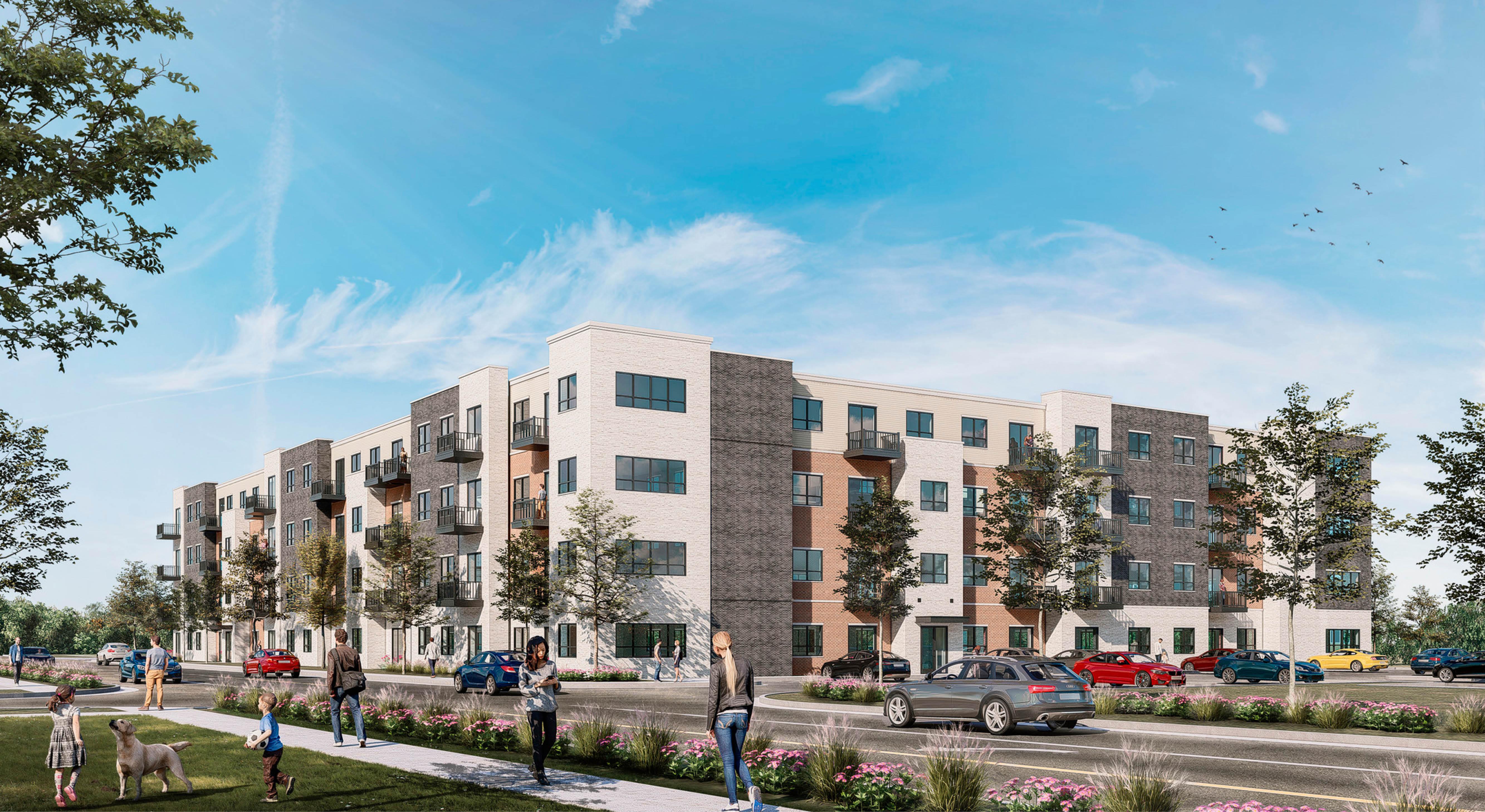 South Elgin Multi-Family building rendering
